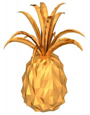 Sticker gold Ananas