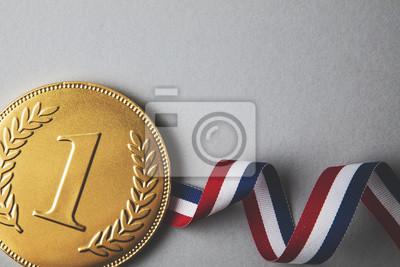 Gold erste Platz Medaille