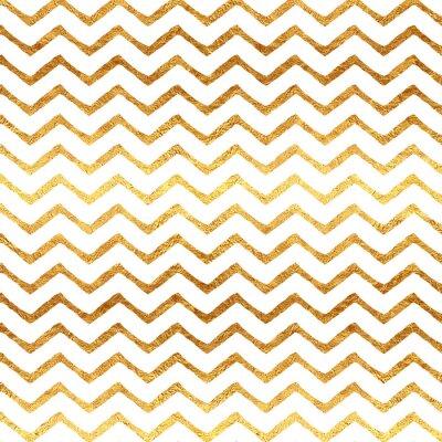 Sticker Gold Faux Foil Chevron metallischen weißen Hintergrundmuster