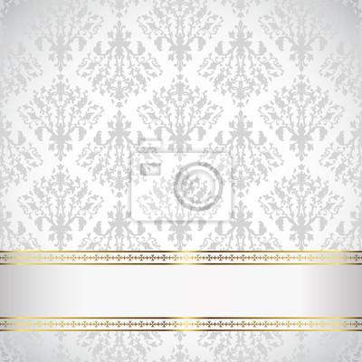 Gold Frame auf Damaris Hintergrund. Vintage design