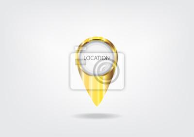 Gold lokalisiert und marcatore mappe icone