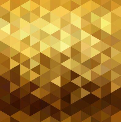 Sticker Gold Muster niedrigen Poly Dreieck Geometrie Phantasie