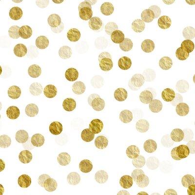 Sticker Gold Punkte Faux Foil Metallic Hintergrundmuster Textur
