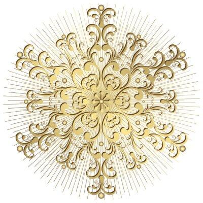 Gold-Schneeflocke