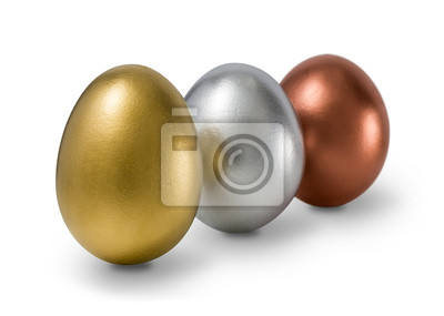 Gold-, Silber-, Bronze-Eier