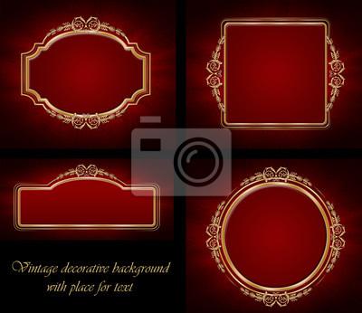 golden dekorativen Hintergrund mit Platz für Text