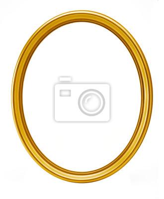 Sticker Goldenen ovalen Rahmen