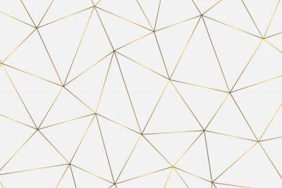 Sticker Goldener geometrischer Hintergrund
