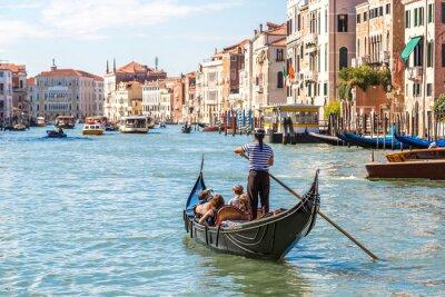 Sticker Gondel auf dem Canal Grande in Venedig