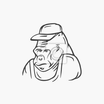 Gorilla, vector illustration