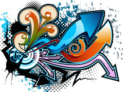 Sticker Graffiti background