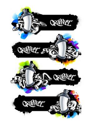 Sticker Graffiti Banners Set