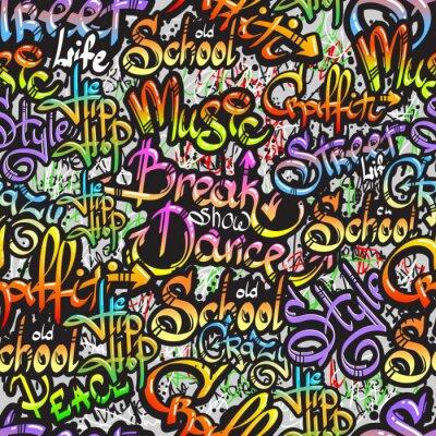 Sticker Graffiti word seamless pattern