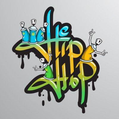 Sticker Graffiti Wort Zeichen gedruckt