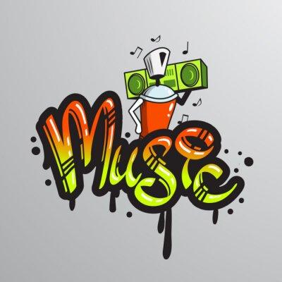 Sticker Graffiti Wortzeichen drucken
