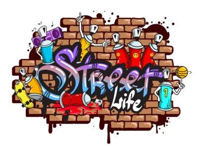 Sticker Graffiti Wortzeichen Zusammensetzung