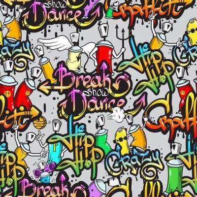 Sticker Graffiti-Zeichen nahtlose Muster
