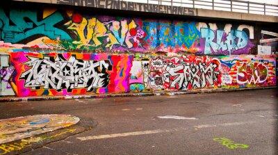 Sticker Graffitti Wand