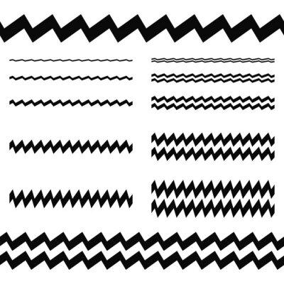 Sticker Grafik-Design-Elemente - asymmetrische Linie gesetzt
