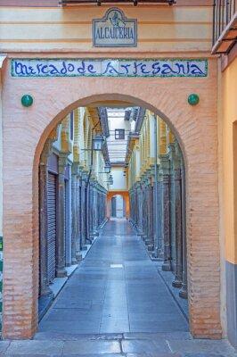 Sticker Granada - Die Alcaiceria Markt in den Morgen