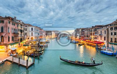 Grand Canal sehen in der Nacht, Venedig