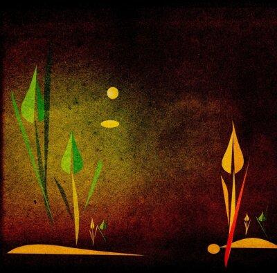 Grange künstlerische Hand gezeichnete Landschaft