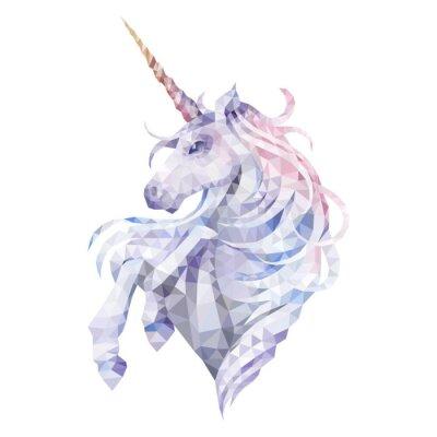 Sticker Graphic low poly unicorn
