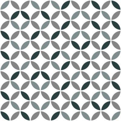Sticker Grau Geometrische Retro Nahtlose Muster