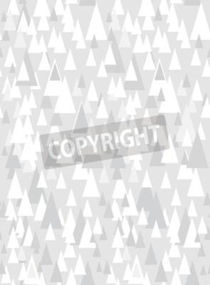 Sticker Grau nahtlose Muster mit dekorativen Dreiecken und Kopie Raum