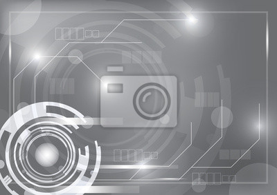 grau-Technologie Hintergrund mit Design-