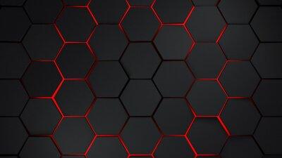 Sticker Graue und rote Sechsecke moderne Hintergrund Illustration