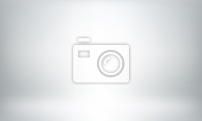 Sticker Gray studio background or backdrop 3D room lightbox