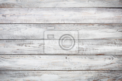 Sticker Gray wooden background with old painted boards