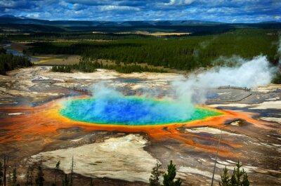 Sticker Großartiger prismatischer Pool im Yellowstone Nationalpark