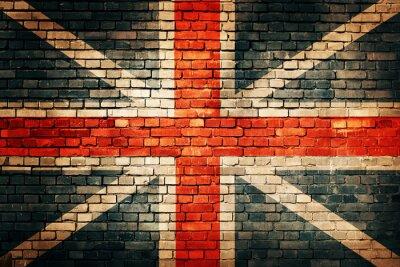 Sticker Großbritannien-Flagge auf alten Mauer