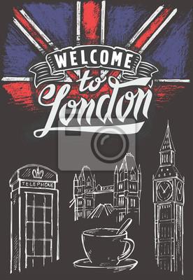 Große britische flagge und london