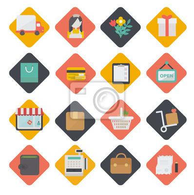 Große Reihe von Shopping-Symbole. Vector.