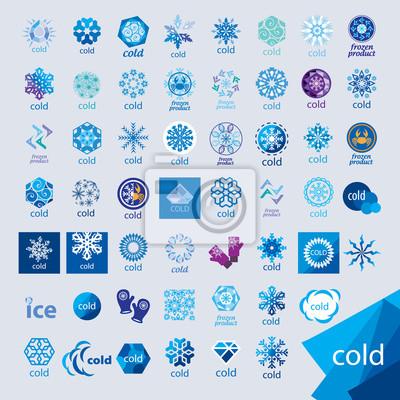 Sticker größte Sammlung von Vektor Logos Kälte und Frost