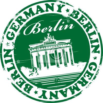Grün-Briefmarke mit dem Namen Berlin