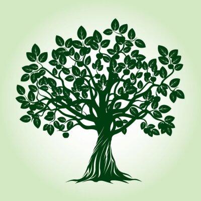 Sticker Grüne Apfelbaum. Abbildung.