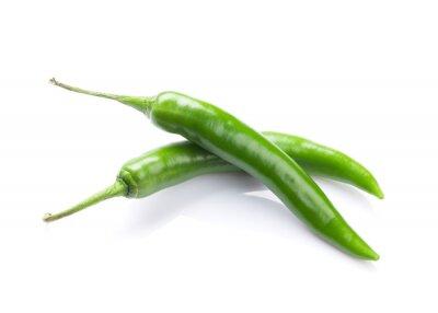 Sticker Grüne Chilischoten
