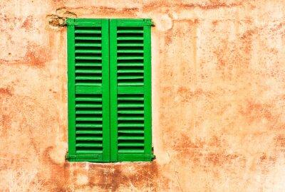 Sticker Grüne Fensterläden Haus Wand Mediterran Wohnen