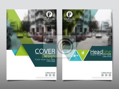 Sticker Grüne Flyerabdeckung Business Broschüre Vektor-Design, Leaflet Werbung abstrakten Hintergrund, moderne Poster Zeitschrift Layout-Vorlage, Jahresbericht für die Präsentation.