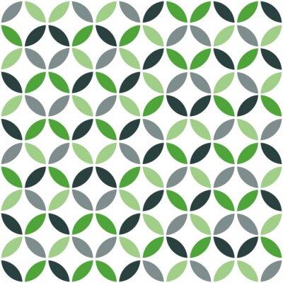 Sticker Grüne Geometrische Retro Nahtlose Muster