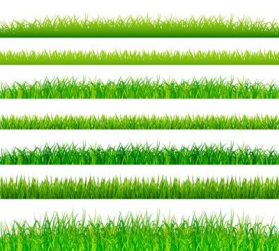 Sticker Grüne Gras Grenzen gesetzt