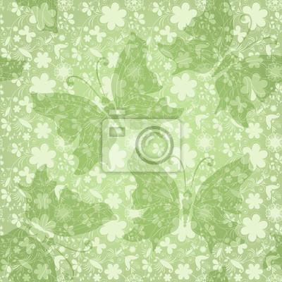 Grüne sanfte Blumenmuster