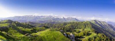 Sticker Grünen Hügeln und Bergen