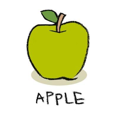 Sticker Grüner Apfel