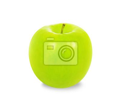 Grüner Apfel, isoliert auf weißem Hintergrund
