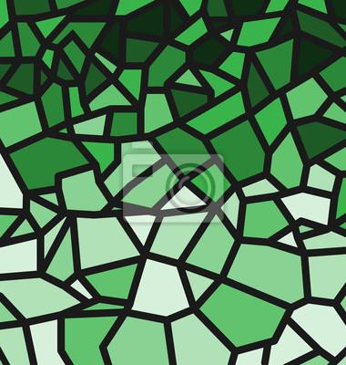 Grünes Trencadis-Muster